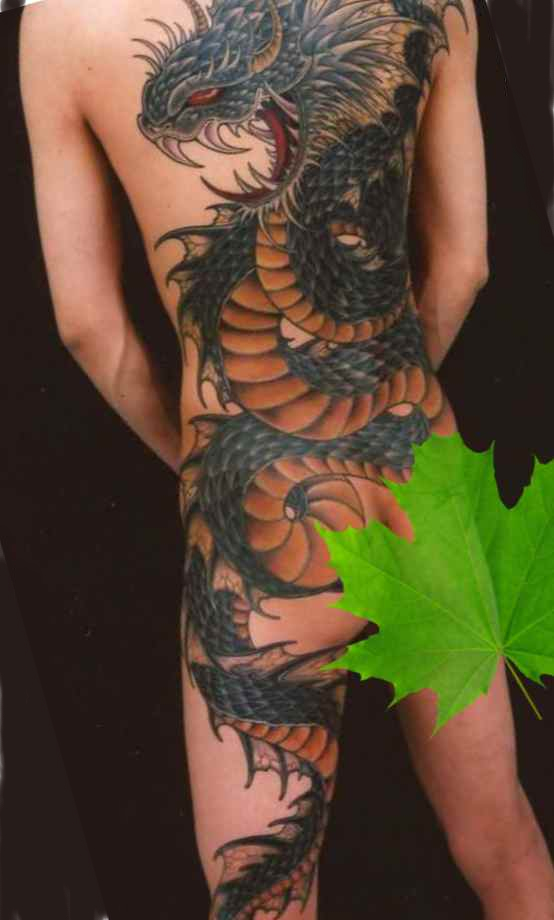 Full body dragon tattoo designs