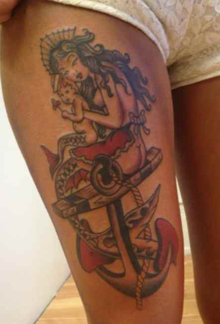 Sailor Jerry ship tattoo