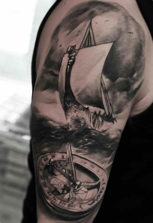 Ship compass tattoo meaning