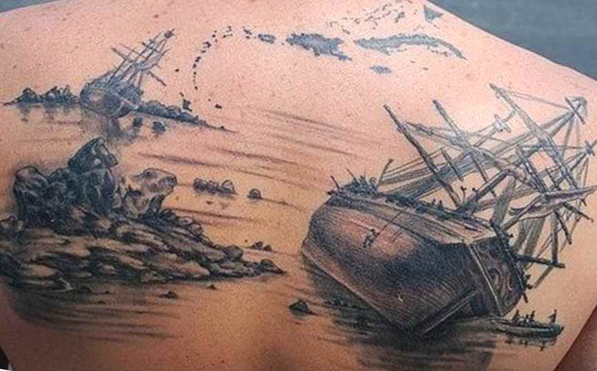 Pirate ship tattoos tattoo designs ideas for man and woman for Sinking ship tattoo