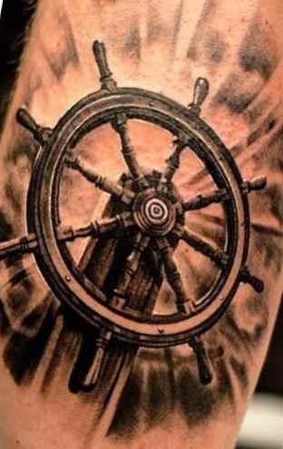Tattoo ship wheel meaning