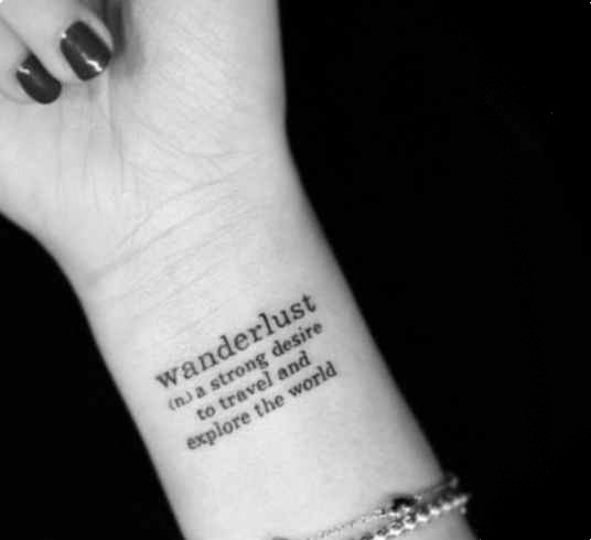 Adorable simple wrist tattoo