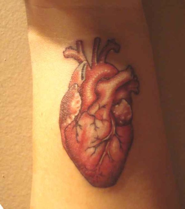 Cool heart wrist tattoo