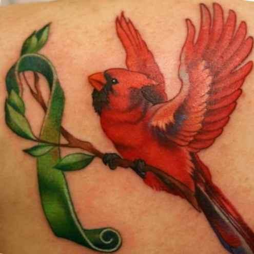 Cardinal bird tattoo