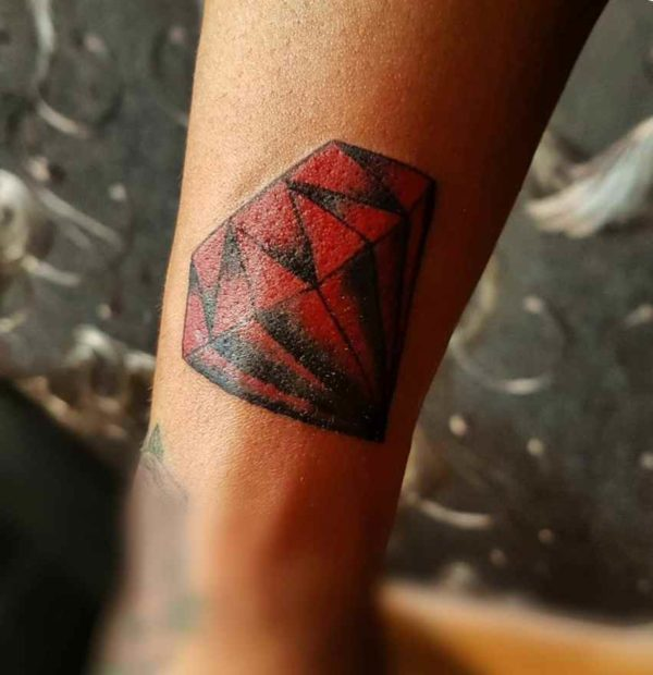 Red diamond tattoo graphics