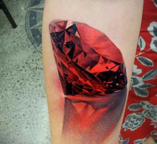 Red diamond tattoo meaning