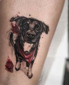 Cool looking dog tattoo