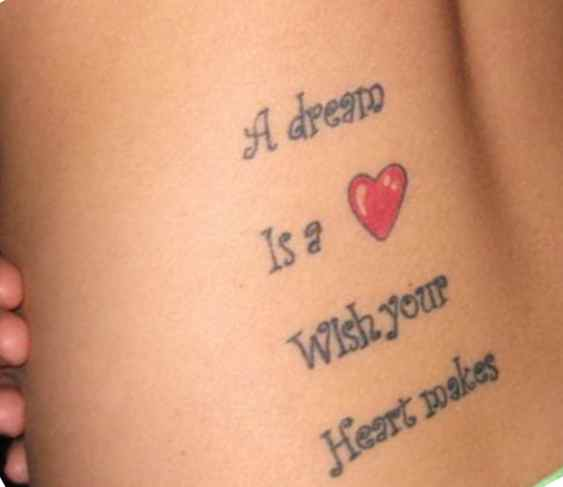 Cute tattoo for girls with a quotes
