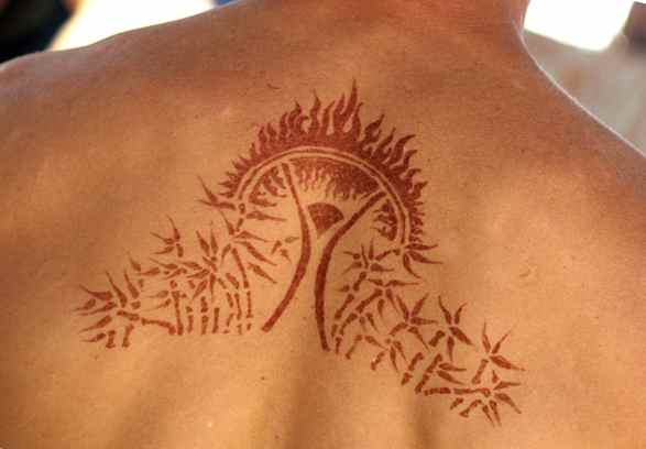 Henna tattoo burning man