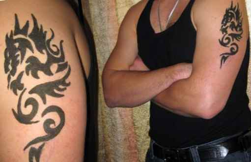 Men's Henna Tattoos on the Forearm