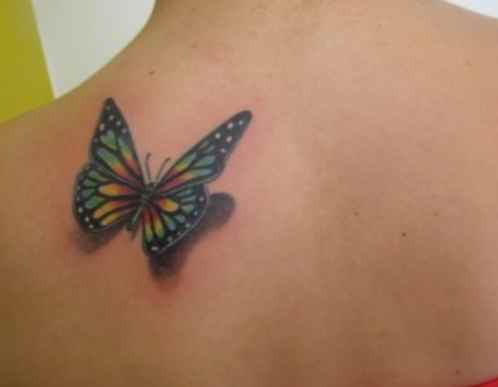 Butterfly tattoo design on the back