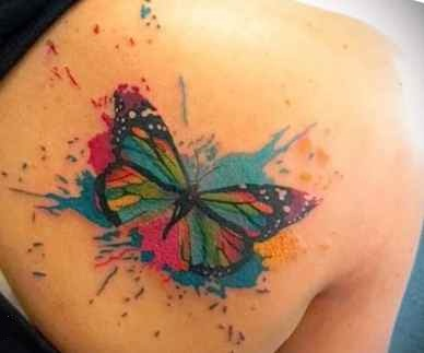 Butterfly tattoo design shoulder blade