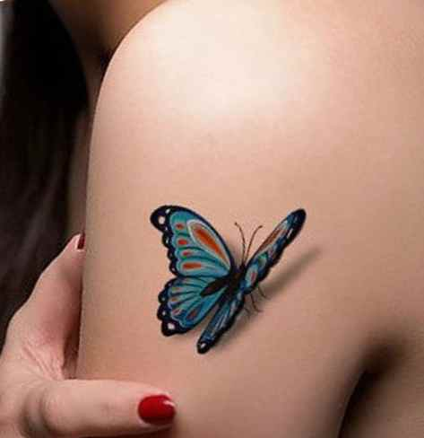 Butterfly tattoo design shoulder