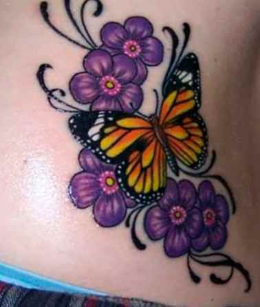 Butterfly tattoo designs simple
