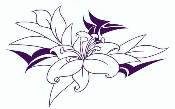 Free flower tattoo designs print