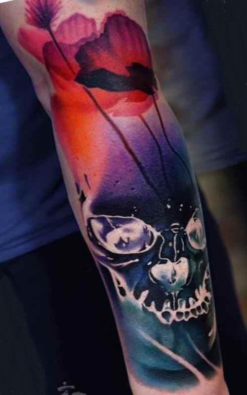 Free skull sleeve tattoo designs