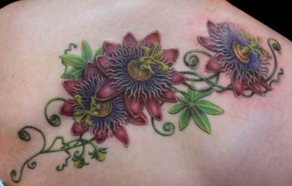 Passion flower tattoo designs