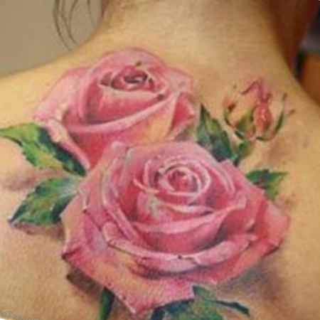 Realistic flower tattoo designs