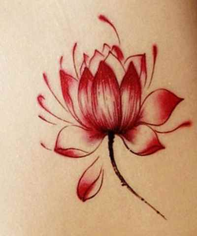 Red lotus flower tattoo designs