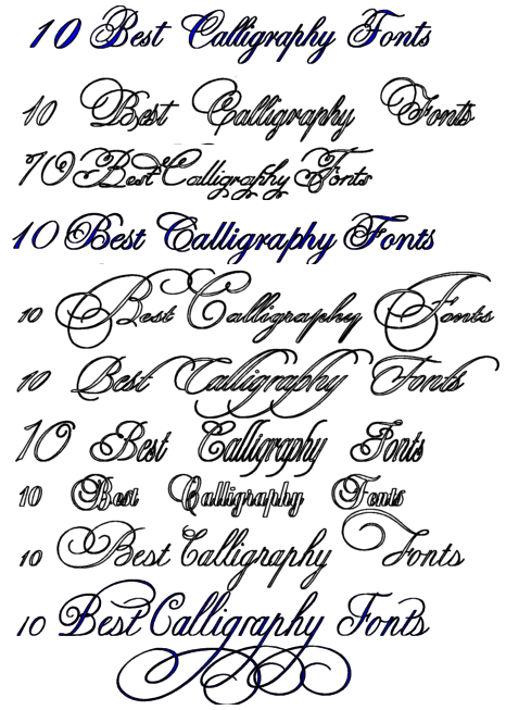 Best Free Tattoo Fonts