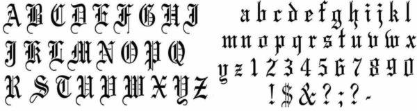 Tattoo font elegant