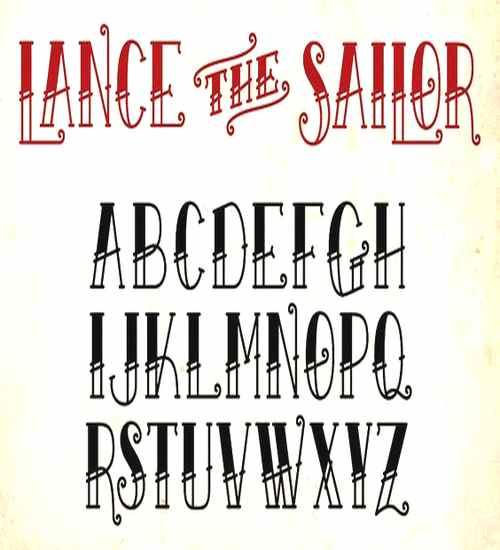 Old tattoo font