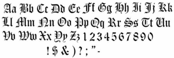 tattoo old english lettering
