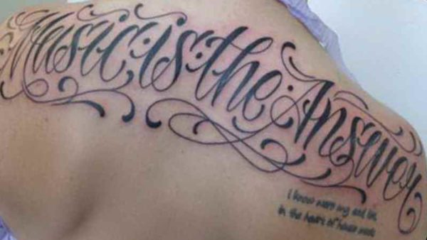 Tattoo font styles on back