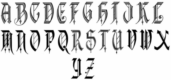 Tattoo lettering A-Z