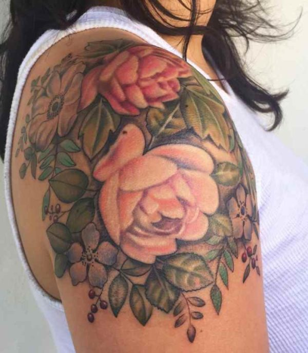 Vintage flower tattoo designs