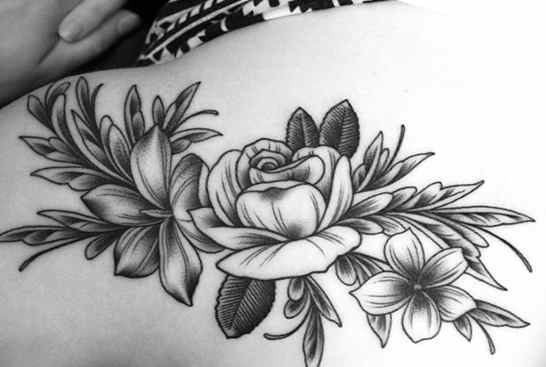 Flower tattoo black