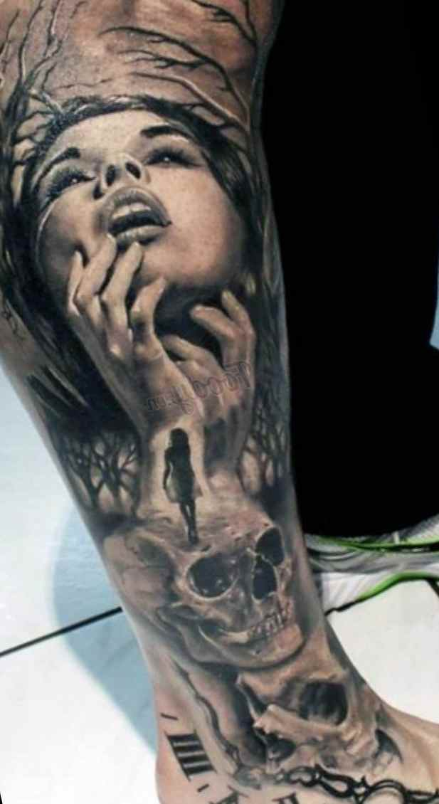 Tattoo design for mens tattoo designs ideas for man and for Mens leg tattoo ideas