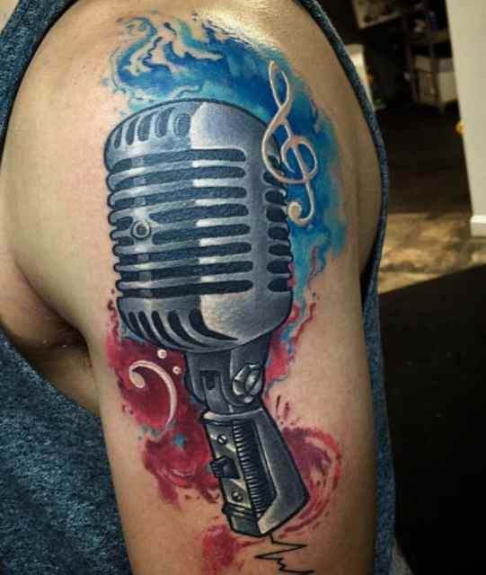 Tattoo for men music