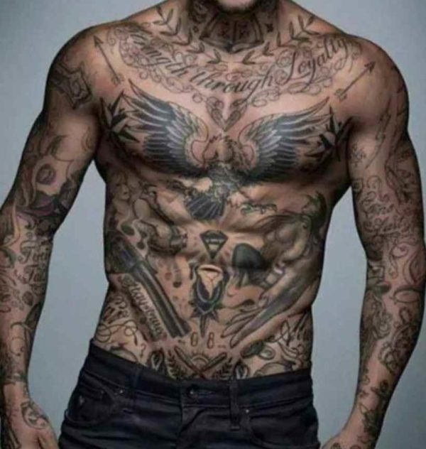 Tattoo for men on body