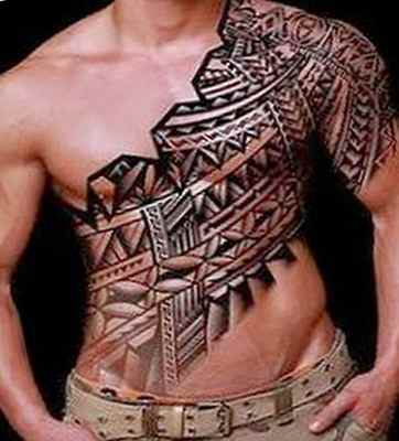 Cool tribal tattoo ideas for above breast