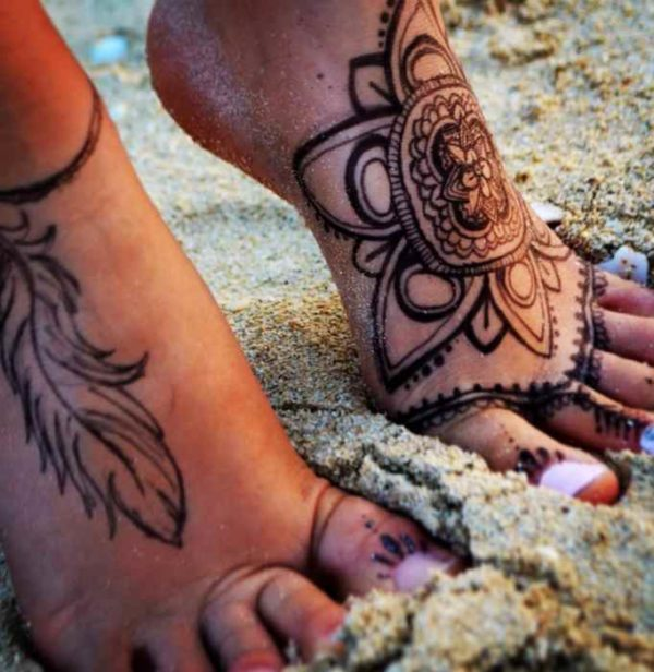 Tribal tattoo for feet