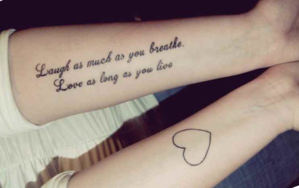 Simple love tattoo quote
