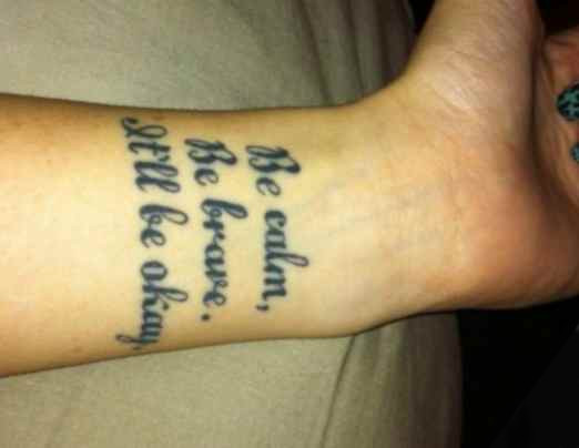 Simple short quote for tattoo