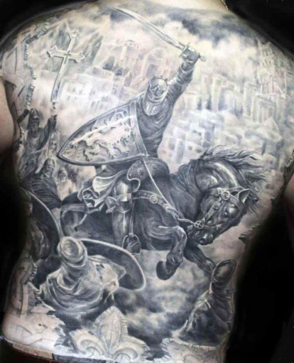 Tattoo for men on back