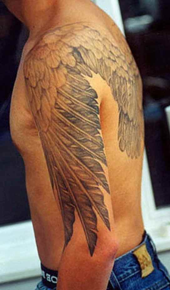Men's tattoo angel wings