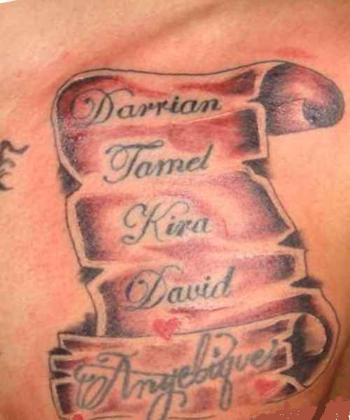 Tattoo ideas for men with wifes name