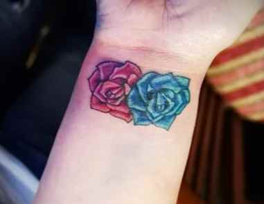 Flower tattoo for the wrist