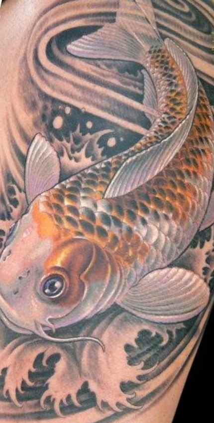 Koi fish tattoo half sleeve sketch