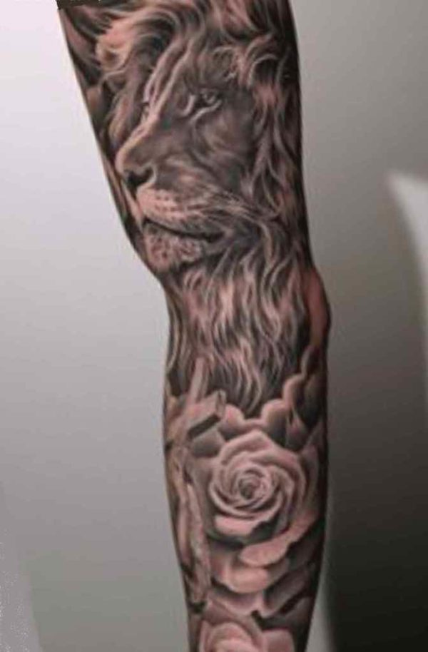 Sleeve tattoo background idea