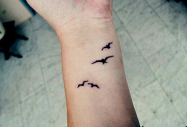 Small tattoo on wrist