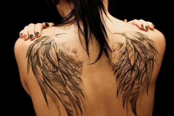 Tattoo of angel wings