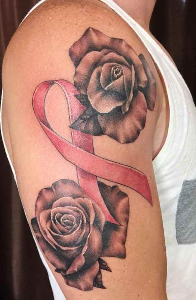 Breast Cancer Ribbon Tattoos Womens Tattoo Designs Ideas For Man
