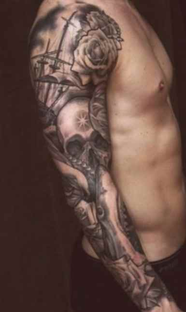 Tattoo sleeve ideas black and white