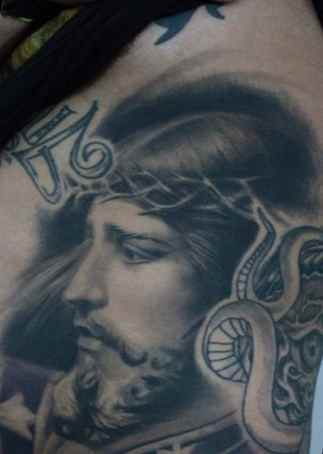 Portrait Jesus tattoo