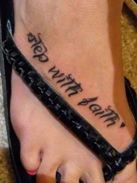 Faith on Foot Tattoo